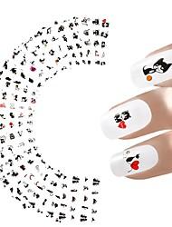 12sheets Nail Sticker Cat Designs Water Transfer Nails Art Loveliness Cartoon Cat Gel Beauty Decal Makeup Manicure Wrap Decals
