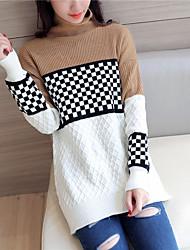 4281 # 2016 Winter echten Schuss traf die Farbe Pullover Frauen&# 39; s Pullover Pullover mit langen Ärmeln hochgeschlossenen und