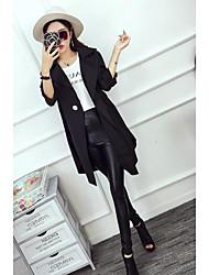 Sign temperament bat sleeve large lapel single button waist coat jacket