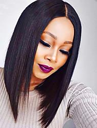 cabelo humano de venda bob quente rendas frente perucas cabelo reto 130% de densidade da Malásia virgem perucas de cabelo laço cor natural