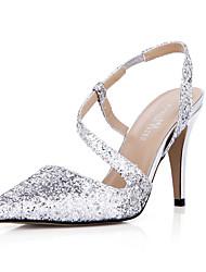 Women's Sandals Summer Comfort Synthetic Wedding Party & Evening Dress Stiletto Heel Silver