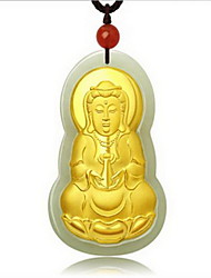 Colares com Pendentes Verde Jade Gema Chapeado Dourado Pingente Moda Jóias de Luxo Dourado Jóias ParaOcasião Especial Aniversário Diário
