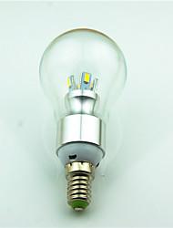 4W E14 Lâmpada Redonda LED 8 SMD 5730 180 lm Branco Quente Decorativa AC220 V 1 pç