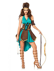 Halter Cosplay Backless Halloween Costumes For Women Savage Indigenous Clothing Uniform Savage Forest Hunter Costume