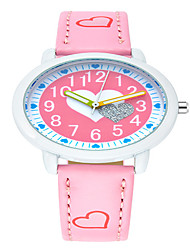 Kids' Fashion Watch Quartz / PU Band Casual Black Blue Pink Purple Purple Red Peach Red Blue Blushing Pink