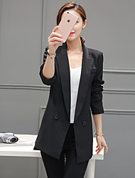 2017 Spring new Korean temperament Slim Ms. long section of small suit leisure suit was thin female coat