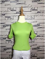 2017 spring new Korean version of sweet lady Slim fungus fifth sleeve sweater