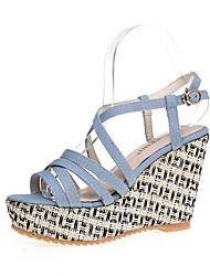 Sandals Spring Summer Fall Comfort Canvas Dress Casual Flat Heel Wedge Heel Multi-color