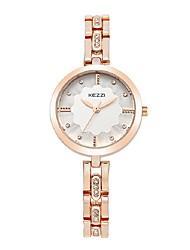 Damen Modeuhr Armband-Uhr Quartz Japanischer Quartz Legierung Band Bequem Silber Rotgold Silber Rose