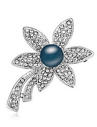 Women's Brooches Pearl Natural Pearl Alloy Flower Jewelry For Daily