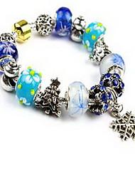 Chain Bracelet Crystal Natural Chrismas Jewelry Purple Blue Light Blue Jewelry 1pc