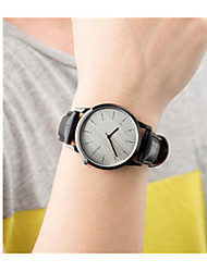 Masculino Mulheres Relógio Esportivo Quartzo Couro Banda Vintage Preta Branco Marrom Branco Preto Marron