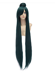 Green Cosplay Wig Anime Sailor Moon Sailor Pluto Meiou Setsuna 110cm Long Straight Synthetic Costume Wig