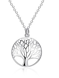 Women's Pendant Necklaces Statement Necklaces Silver Plated Tree of Life Fashion Silver Jewelry Daily 1pc