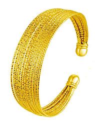 Femme Manchettes Bracelets Cuivre Plaqué or 24K Plated Gold Naturel Mode Vintage Balle Or Bijoux 1pc