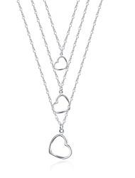 Femme Pendentif de collier Colliers chaînes Bijoux Forme de Coeur Cuivre Plaqué argentOriginal Pendant Amour Amitié Adorable Personnalisé