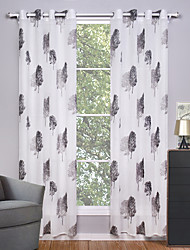 Two Panels Curtain Modern Living Room Polyester Sheer Curtains Shades Home Decoration For Window