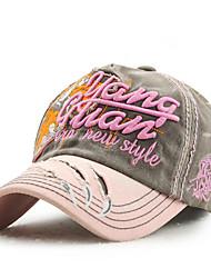 manera del algodón de la vendimia de la gorra de béisbol del sombrero del sol del remiendo ajustable verano ocasional deporte al aire