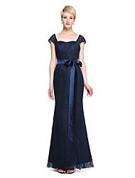 LAN TING BRIDE Floor-length Straps Bridesmaid Dress - Open Back Sleeveless Lace