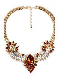Women's Choker Necklaces Jewelry Gemstone Alloy Jewelry Fashion Personalized Euramerican Orange Dark Blue JewelryParty Special Occasion