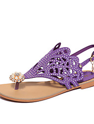 A new low with the Roman contracted summer sandals female flat green purple black shoes