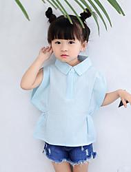 Casual/Daily Beach Holiday Solid Shirt,Cotton Summer Short Sleeve Short