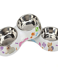 Cat Dog Bowls & Water Bottles Pet Bowls & Feeding Waterproof Rainbow