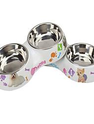 Cat Dog Bowls & Water Bottles Pet Bowls & Feeding Waterproof Multicolor Stainless Steel