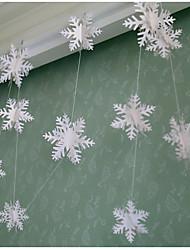 raylinedo® 1 шт Гирлянда белая бумага для свадьбы летию со дня рождения рождественской вечеринки девушки украшения комнаты снега формы