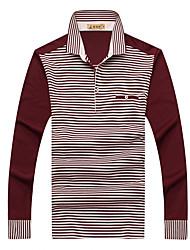 2017 мужчин среднего возраста&# 39; Для мужчин с длинными рукавами футболки лацкане среднего возраста дна рубашки сострадательного