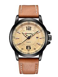 LONGBO Outdoor Leisure Waterproof Leather Strap Watch