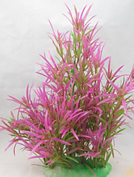 Оформление аквариума Водное растение Нетоксично и без вкуса Пластик Красный
