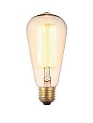 e27 220v 40w ST64 retro criativa decoração de tungstênio lâmpada