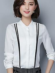 подписать новую рубашку новую +2017 весной новый женский темперамент хит цвет шифон рубашку