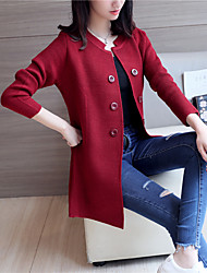 4540 # 2017 spring large size women sweater coat Korean version of season long-sleeved and long sections loose knit cardigan tide