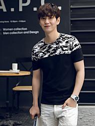 2017 Frühling und Sommer Männern&# 39; s Kurzarm-T-Shirt aus Baumwolle mitfühlend Nähten Tarnjacke koreanischen Männer schlank