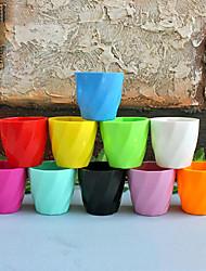 1 Pcs Artificial Flower Pot Faux Plastic Pot Table Desk Decro Random