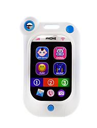 Telefones de Brinquedo Aprendizado & Educativos Quadrangular Plástico Branco Rosa 5 a 7 Anos 8 a 13 Anos