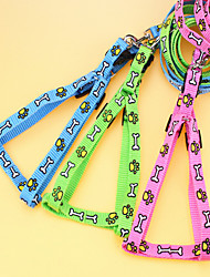 High Quality Printing Pet Traction Rope Harness Dog Traction With Random Color