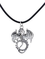 Homme Femme Pendentif de collier Bijoux Forme d'Animal Dragon Alliage Original Logo Pendant Argent Bronze Bijoux Pour Halloween 1pc