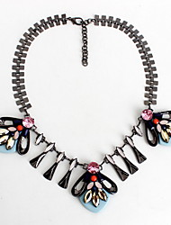 Women's Strands Necklaces Jewelry Gemstone Alloy Jewelry Fashion Personalized Euramerican Black Jewelry Party Special Occasion Engagement