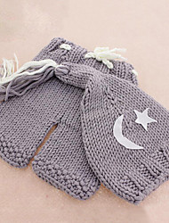 Kid's Cute Cotton Knitting Moon  and Star Pattern