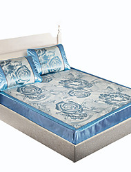 Yuxin®Bed Linen Ice Silk Mats Linen Mats Summer Mats Air Conditioning Mats  Ice Mats*1 Pillowcase*2  Bedding Set