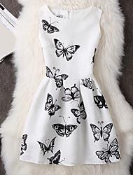 nouveaux printemps et d'été des femmes&robe européenne robe grande impression prix veste talonnage tutu sans manches été d'une femme #