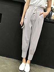 Sign 2017 spring new Korean loose pants sports pants harem pants pantyhose feet pants