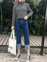 2017 новая весна была тонкая керлинг девять очков джинсы широкие ноги брюки случайные студентка Приток