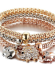 Bracele Elephant Elephant Charm Bracelet Alloy Daily / Casual / Sports Jewelry Gift Gold1pc