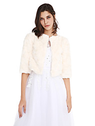 Women's Wrap Coats/Jackets Faux Fur Wedding Party/Evening