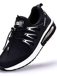 Athletic Shoes Spring Summer Fall Comfort Light Soles Patent Leather Outdoor Athletic Casual Low Heel Lace-up Black Dark BlueTrack &
