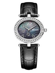 Fashion Watch Quartz Leather Band Casual Black